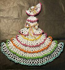 New listing Crochet Crinoline Lady Doily - Tutti-Frutti