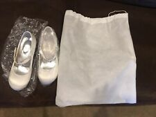 Girls Wedding/Party Shoes Pumps Ivory Satin Size 33