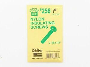 "HO 2-56 x 1/2"" Nylon Acetal Insulating Screws - Kadee #256 < vmf121"