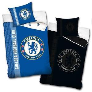 Chelsea FC Single Duvet Cover Set Glow In The Dark Logo EU Size Football Bedding