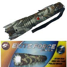ELITE FORCE Stun Gun 10 Million Volt Rechargeable LED Flashlight Snow Camo