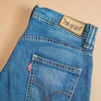 Vintage Levi 524 Jeans Blue Super Low Straight Women's Waist 27 Leg 34 UK 8