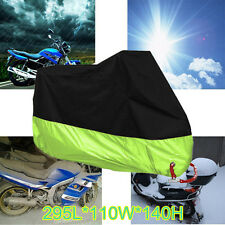 XXXL Green Motorcycle Cover Waterproof For Harley Davidson Street Glide Touring