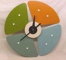 MID CENTURY MODERN PETAL CLOCK NEW IN BOX