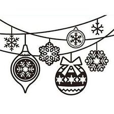 Darice Hanging Ornaments Embossing Folder - Christmas Baubles - Tree Decoration