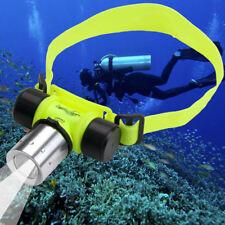 CREE XM-L T6 LED-Stirnlampe Kopflampe Licht zum Tauchen 30m Wasserdicht