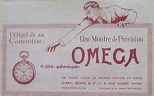 PUBLICITE OMEGA MONTRE DE PRECISION GOUSSET CONVOITISE DE 1919 FRENCH AD PUB