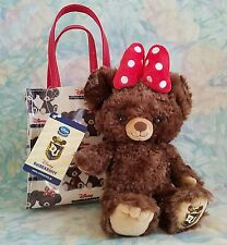 Disney Store Japan UniBEARsity Large Pudding Plush Keycahin with Mini Bag Rare