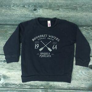 Kids American Apparel Sweatshirt BOUNDARY WATERS Canoe Area Minnesota Size 4