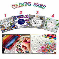 24 Pages English Kids Adult Coloring Books Painting Books Graffiti Gifts