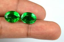 Ring Size Muzo Colombian Emerald Pair 10-12 Ct Oval 100% Natural AGSL Certified