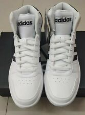 Adidas Hoops 2.0 Mid Shoes White MEN Basketball Shoes - BB7208