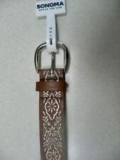 "New Sonoma Women's Stylish Brown ""COGNAC"" Stitched belt - Size S $26.00 value"