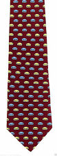 Vicky Davis Couch Potato Mens Silk Red Neck Tie Flip Necktie Funny Gift Tie