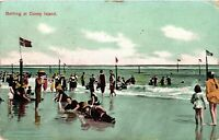 Vintage Postcard - Undivided back 1909 Bathing At Coney Island NEW YORK  #4209