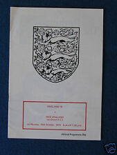 England v New Zealand  B International Programme 15/10/79 - Played at Orient