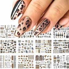 Nails 12 Sheets Leopard Print Nail Stickers Foil Nail Art Supplies Water Transfe