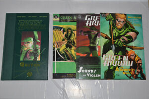 LOT OF 4 GREEN ARROW QUIVER 2002 Hardcover/Archer's Quest/Longbow Hunters/Sounds
