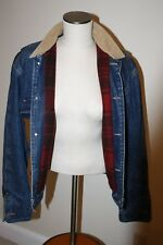Polo Ralph Lauren Denim Jean Jacket Buffalo Wool Plaid Lined  Sz M