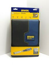 NEW Irwin 1819363 High Impact Chisel Set, 5 Pieces, Steel Blade, Resin Handle