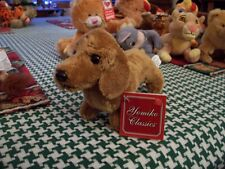 ADORABLE PLUSH BROWN DACHSHUND PUPPY NEW !