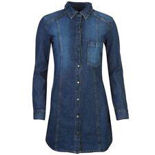 Denim Regular Collar Long Sleeve Dresses for Women