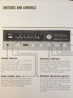 """Sansui 2000 Stereo Receiver """"Original Vintage"""" Owners Manual 18 Pages Very Rare"""