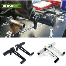 Foot Pegs w// Tube Clamps For Honda CB 125 350 400 450 650 750 900 Super Sport