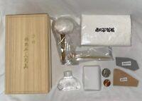 Japanese Sword Tsuba Care Polish Kit 3 Uchiko Oil Choji Hazuya & Jizuya 20gms
