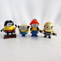 4 x Minions Pirate Jail Construction McDonald's Despicable Me Toys Bundle Lot