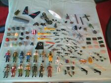 """GI JOE 3 3/4"""" Vintage Lot of Figures, Accessories Pieces and Parts"""