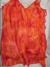 Secret Treasures Intimate Sexy Sleepwear Lingerie Orange  Short Gown   L  Large