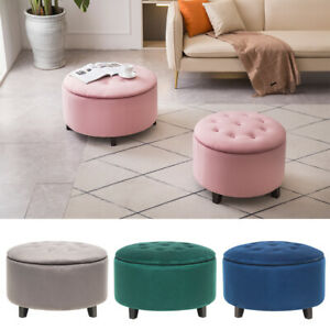 M/L Chesterfield Storage Ottoman Footstool Button Pouffe Seat Stool Coffee Table