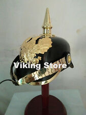 GERMAN PRUSSIAN PICKELHAUBE SPIKED WWI ARMOR HELMET LADER HELMET