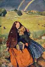 A4 Photo Millais John E 1829 1896 The Blind Girl Great Pictures in 1905 Print Po