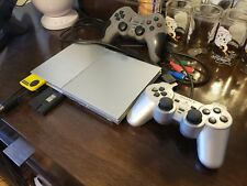Sony PlayStation 2 Slim Launch Edition Satin Silver Consol SCPH90001 w Component