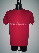 T- SHIRT  STONE  ISLAND  IN  COTONE  ROSSA  TG  M