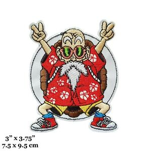 Dragon Ball Z Master Roshi Embroidered Iron On Patch