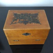 Coffret Ancien de Peintre 1900 À 2 Niveaux Antique French Painter Box
