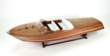 "Riva Ariston Handmade Wooden Classic Boat Model 48"" RC Ready"