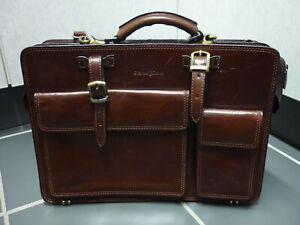 Gianni Conti Leder Akten Tasche, dickes Leder gut erhalten Farbe: braun