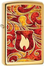 Zippo Windproof Stained Glass Flame Lighter, Choice Collection 28975, New In Box
