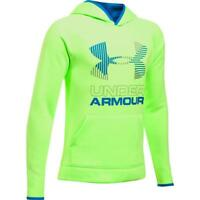NWT UNDER ARMOUR Boys Armour Fleece Big Logo Hoodie Quirky Lime Size M, XL
