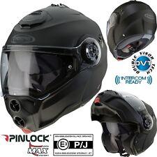 CABERG Klapphelm DROID schwarz matt Motorrad Helm Sonnenblende Pinlock XL 61/62