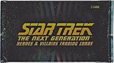 Rittenhouse Star Trek TNG Heroes & Villains Factory Sealed Trading Card Pack