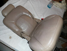 OEM 1997 Ford Expedition 2nd row passenger's side Seat.  Leather tan beige