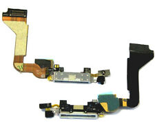 iphone 4 4G USB Charging Dock Port Connector + Mic Assembley Flex Cable White UK