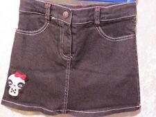 "Gymboree ""Holiday Panda"" Panda Black Denim Skirt Skort, 6"