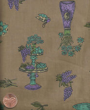 Vintage Novelty Tea Party Fabric