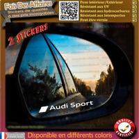 2 Stickers Autocollant audi sport rétroviseur Tuning sponsor